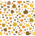 autumn leaves seamless pattern for new background vector image