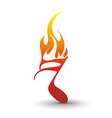 Fire note vector image
