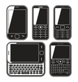 Modern mobile phone set With QWERTY keyboard vector image