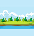 a simple nature landscape vector image vector image