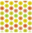 Abstract colorful flower pattern vector image