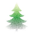 abstract polka-dot stipple Christmas vector image vector image