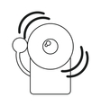 alarm fire emergency alert icon line vector image vector image