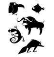 art animal silhouettes collection vector image vector image