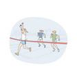 Athletics running marathon competition concept