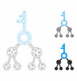 binary key mesh 2d model and triangle vector image vector image