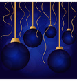 Bright color christmas balls vector image vector image