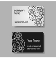 Business card collection with flowers vector image