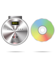 CD player and compact disc vector image vector image