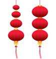 chinese hanging lanterns vector image vector image