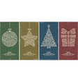 Christmas decor set vector image vector image