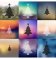 christmas tree icon on blurred background vector image