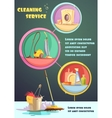 Cleaning Infographic Set vector image vector image