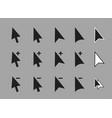 computer arrow cursors icon set vector image