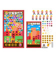 construction worker ball shooting game kit vector image vector image