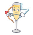cupid champagne character cartoon style vector image