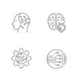 digital technology icons set editable stroke eps vector image