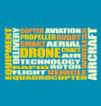 drone relative word cloud vector image