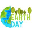 earth day concept scene vector image