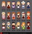 european girls in national dress vector image vector image
