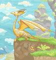 fantastic dragon little vector image vector image
