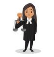 female judge cartoon character vector image
