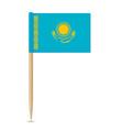 flag of kazakhstan toothpick 10eps vector image