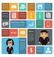 Flat business infographics design elements vector image vector image