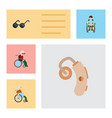 flat icon disabled set of spectacles audiology vector image vector image