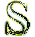 font letter S vector image vector image