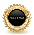 Free Trial Badge vector image vector image