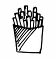 french fries hand drawn vector image vector image