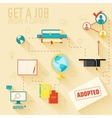 get a job for begin a career infographic vector image