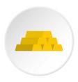 gold bar icon circle vector image vector image