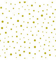 Gold confetti seamless pattern vector image
