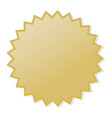 gold stamp vector image