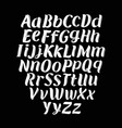 hand drawn typeface set typography alphabet vector image vector image