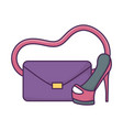 handbag high heels icon on white background vector image