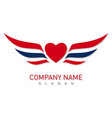 hearts wing design vector image