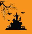 house hallowen vector image vector image