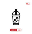ice coffee icon vector image