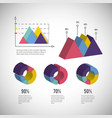 isometric infographic business diagram information vector image