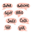 lettering bubbles vector image vector image