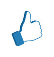 like symbol social media icon thumb up vector image