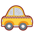 line color taxi car vehicle to transport service vector image vector image