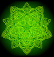 mandala green and yellow ornament vector image