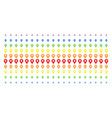 map pointer shape halftone spectrum effect vector image