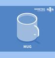 mug icon isometric template for web design vector image vector image