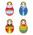 Nested dolls set Matryoshka with different vector image vector image