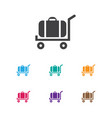 of holiday symbol on trolley vector image vector image
